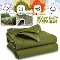 Heavy Canvas Tarp Green Tarpaulin Outdoor Awning Cloth Sun Shelter Tarp Waterproof Tent Shade Sunshade Accessories
