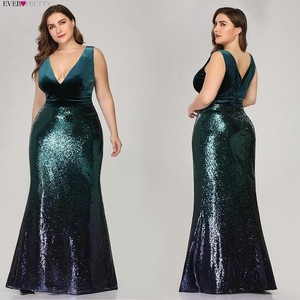 Image 3 - Plus Size Mother Of Bride Dress Ever Pretty Mermaid Sequined Long Formal Gowns For Wedding Guest Vestidos Para Madre De La Novia