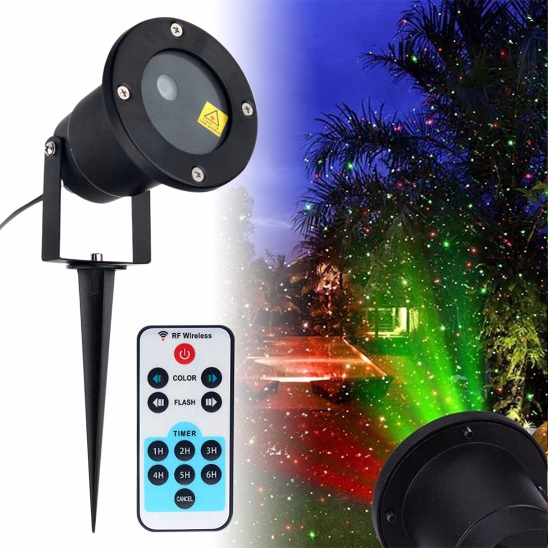 2019 Newest Waterproof Outdoor Moving Projector Laser LED Garden Christmas Light Stage Light