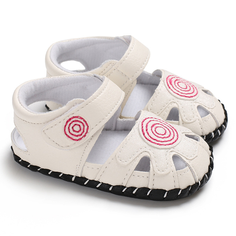 New Baby Summer Shoes PU Leather Summer Baby Kids Shoes Children Rubber Sole Funny Baby Squeaky Shoes