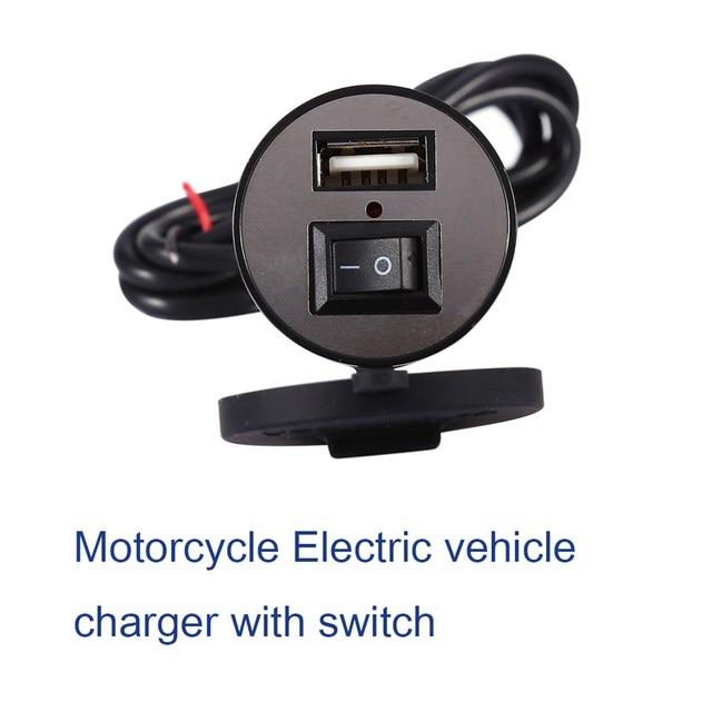 USB Charger Motorcycle Power Adapter Socket Usb Charger Waterproof Auto Charger Adapter For Mobilephone GPS 12-24V Universal