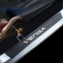4 шт. виниловые накладки на пороги автомобиля из углеродного волокна для Kia Venga автомобильные аксессуары