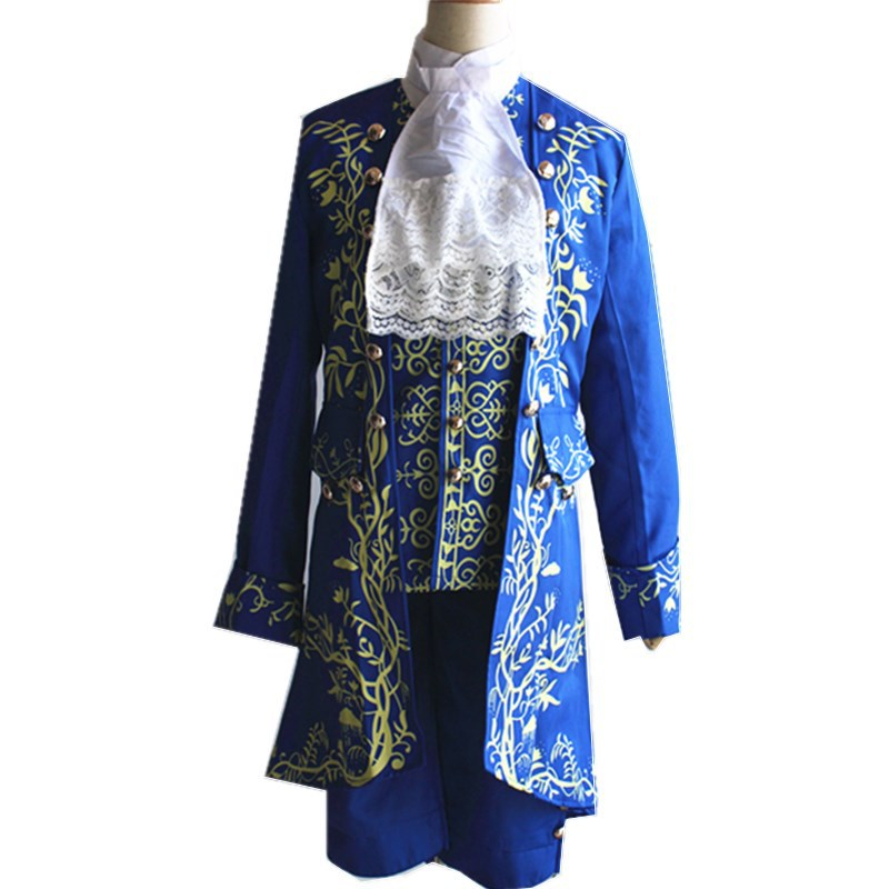 2018 new movie tv costume Anime Beauty and the Beast Movie Prince Cosplay Costume Complete Outfits men
