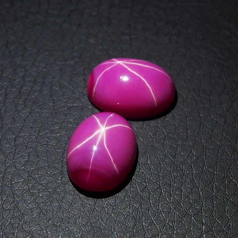 9*11mm 3 Piece/a lot Red Ruby Oval Cabochon Star make in china
