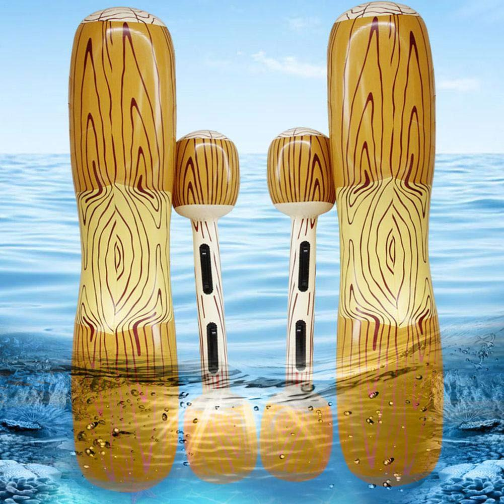 Inflatable Floating Row Float Pool Toy Wood Grain Inflatable Kayaking Water Entertainment Set