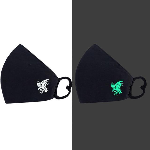 Anti PM2.5 Face Mask Luminous Masks Air Pollution Masks Anti Cold Keep Warm Anti Dust Tool Windproof Flu Proof Flu Face Mask 5