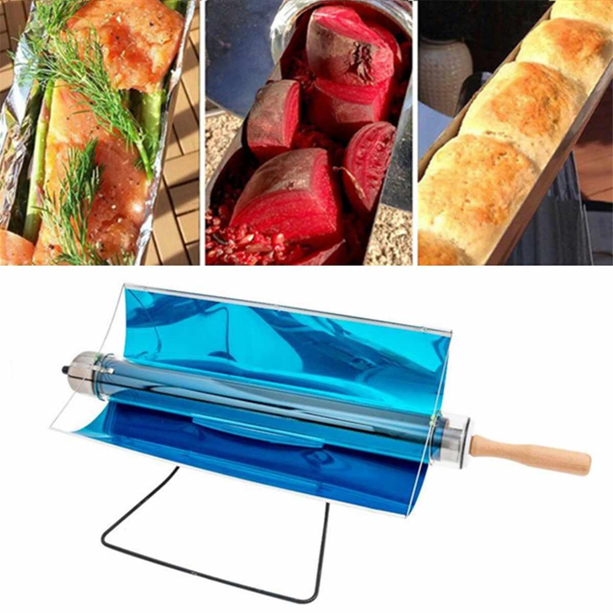 75X35X35 cm chaud Portable pliant cuisinière solaire cuisinière four carburant gratuit pique-nique cuisson Barbecue nourriture Camping randonnée en plein air Barbecue Grill