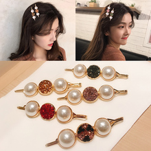 Pearl Hairpin Handmade Hair Clip Fashion Women Ladies 1PC New Snap Exquesite Barrette Stick Slide Accessories