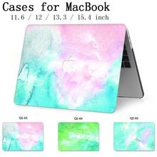 Para Notebook MacBook Laptop funda para MacBook Air Pro Retina 11 12 13 15,4 pulgadas con teclado Protector de pantalla cubierta