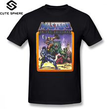 Masters Of The Universe T Shirt He Man Masters Of The Universe Battle Scene With Skeletor T-Shirt Short-Sleeve Tee Shirt Tshirt 1 12y unisex kids t shirt masters of the universe he man tshirt for children fashion t shirt boys girls clothes summer tops tees
