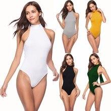 цены на 2019 Sexy Halter Straps Rompers Womens Jumpsuit Irregular Bodysuit Summer Top One Piece Tumblr  в интернет-магазинах