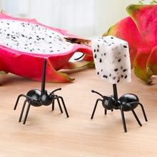 12 шт./компл. многоразовые Ant фруктовая вилка для фруктов несколько Применение посуда милая, стильная закуска пирог десерт вилки