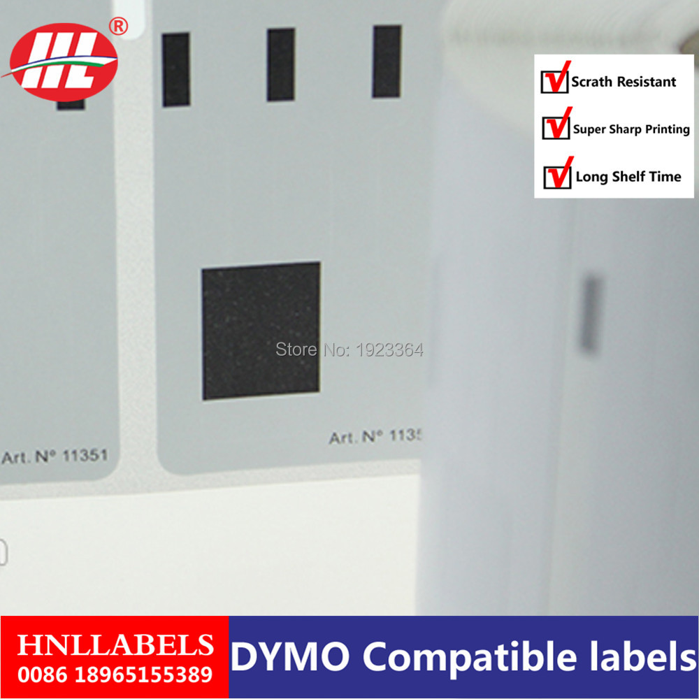 Dymo Compatible Labels 11351 Jewelry Labels Thermal Paper 54mm X 11mm LabelWriter Turbo SLP Etiketten