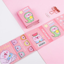 лучшая цена 1 PC Kawaii Cartoon Funny Pig 6 Folding Memo Pad Sticky Notes Notepad Bookmark Gift