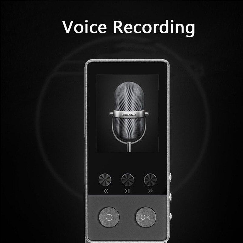 Lecteur de musique sans perte HIFI musique Audio sport lecteur MP3 bluetooth APE/FLAC/WAV Support carte TF avec enregistreur Radio FM eBook - 3