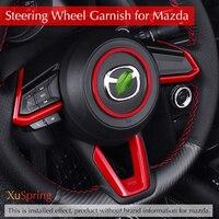 Car Steering Wheel Decorative Circle Sequins Bright Interior Refit Stickers For 2017 2018 Mazda CX 5 CX5 KF 2th Car accessories