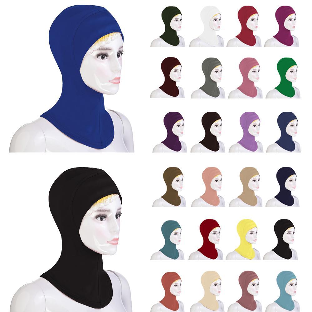 MUSLIM LADIES GIRLS READYMADE HIJAB SCARF NINJA PLAIN COLOURS HEADWRAP