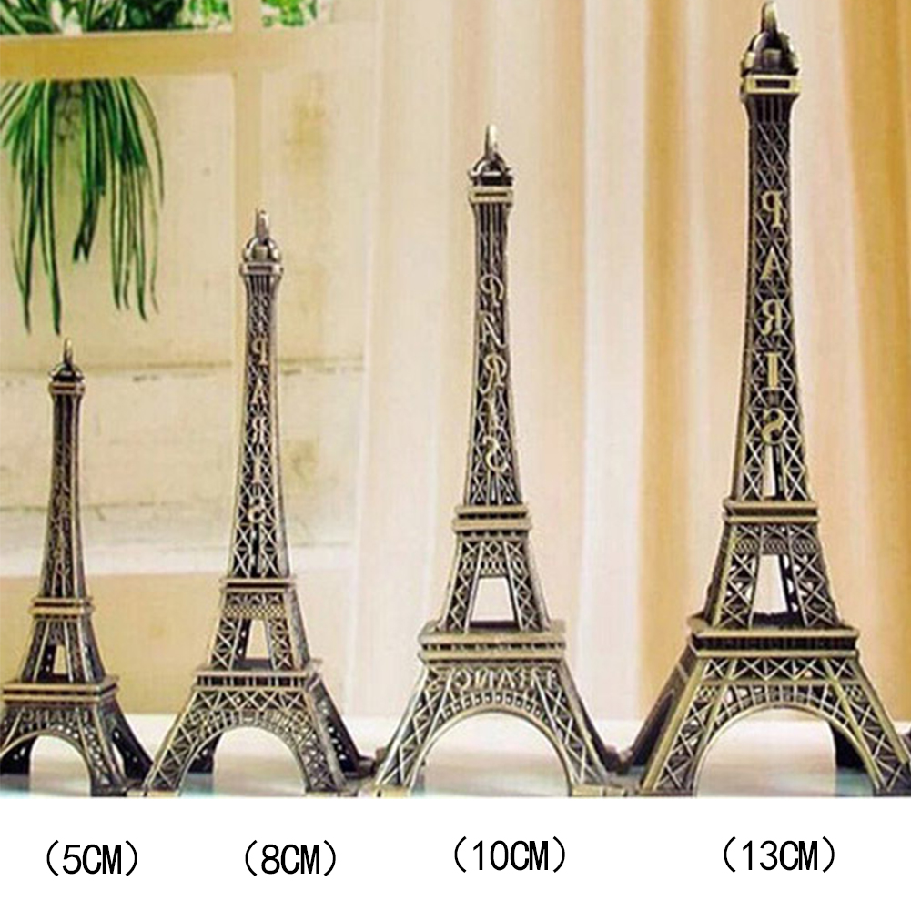 Tower Figurine Statue Home Decor Romantic Retro Metal Crafts Vintage Bronze Tone  Effiel Fashion Decor 5/8/10/13cm #0117