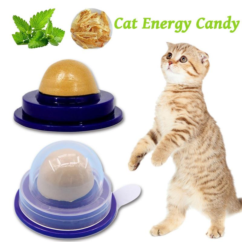 Cat food Cat Vitamin Mint Rounded Toy health cat treat Solid Energy Candy Pet Toy Ball Snack Nontoxic Kitten Licking Snack image