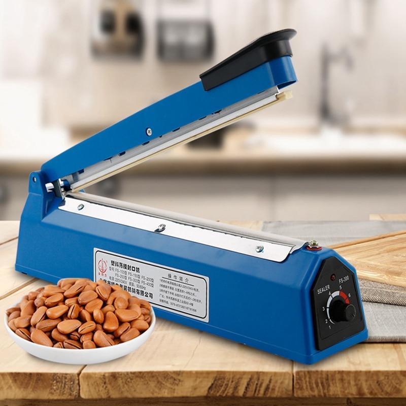 12 Inch Food Sealer Packaging Machine Sealing Machine Hand Pressure Manual Impulse Heat Sealer Bag Machine Eu Plug