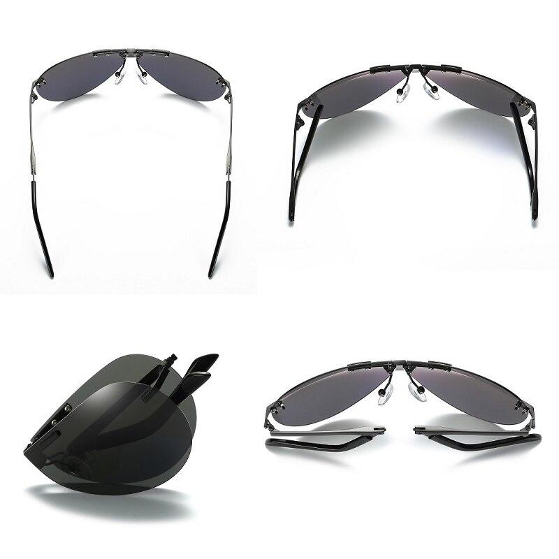 Men s Folding Polarized Sunglasses Women Folded Sun Glasses Foldable Portable Design Retro Goggles for Male