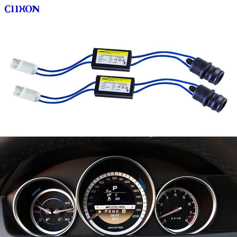 2pcs 12V T10 LED Warning Canceller Decoder 501 192 168 NO Canbus OCB Error Load Resistor + W5W License Plate LED Bulbs Ciihon