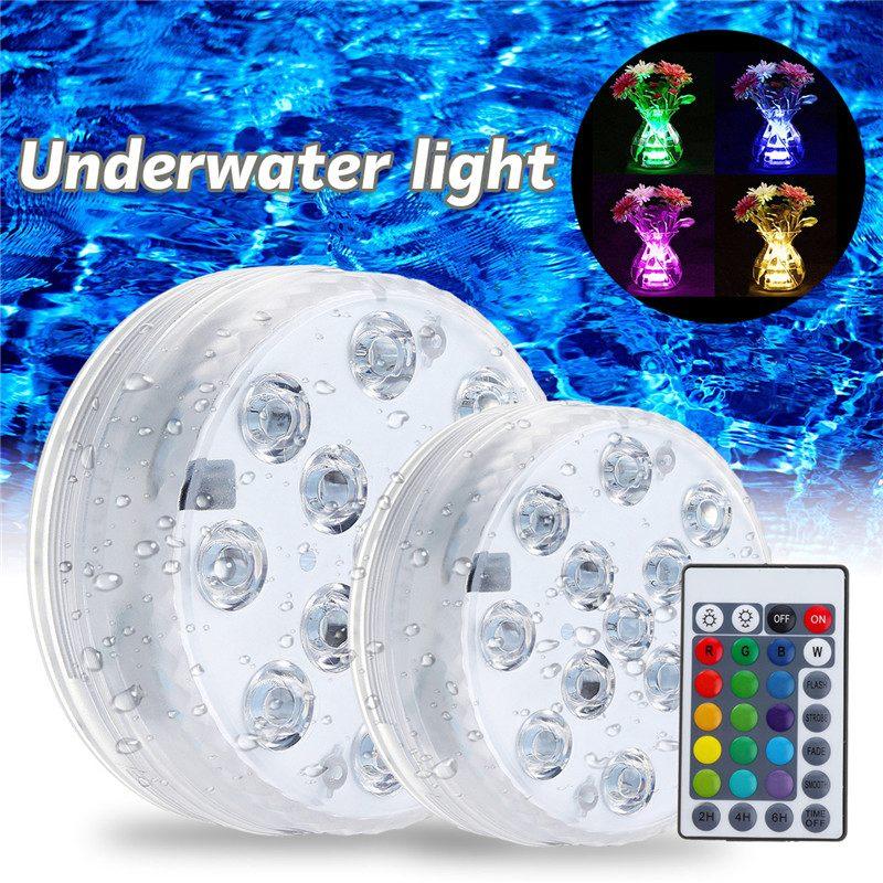 13 Leds Rgb Tauch Led Unterwasser Licht Batterie Betrieben Ip67 Wasserdichte Lampe Schwimmen Pool Licht Für Hochzeit Feier