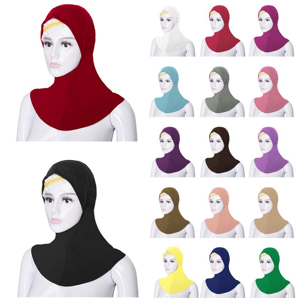 Islamic Muslim Soft Cotton Under Scarf Hat Cap Bone Bonnet Neck Cover Hijab Cap