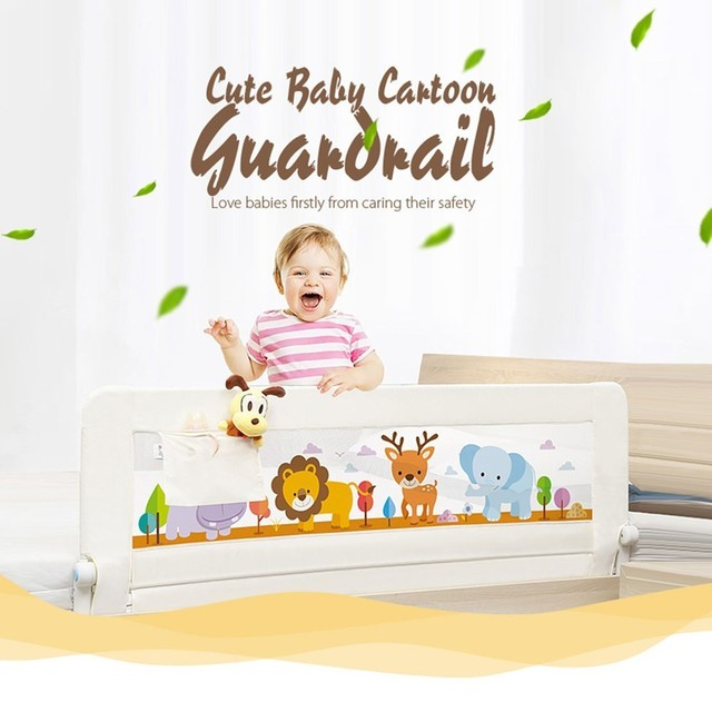 Baby Bed Rail Safe Guardrail With Pocket Playpen Kids Child Safety Care Barrier For Beds General Use Fence Guardrail Crib Rails