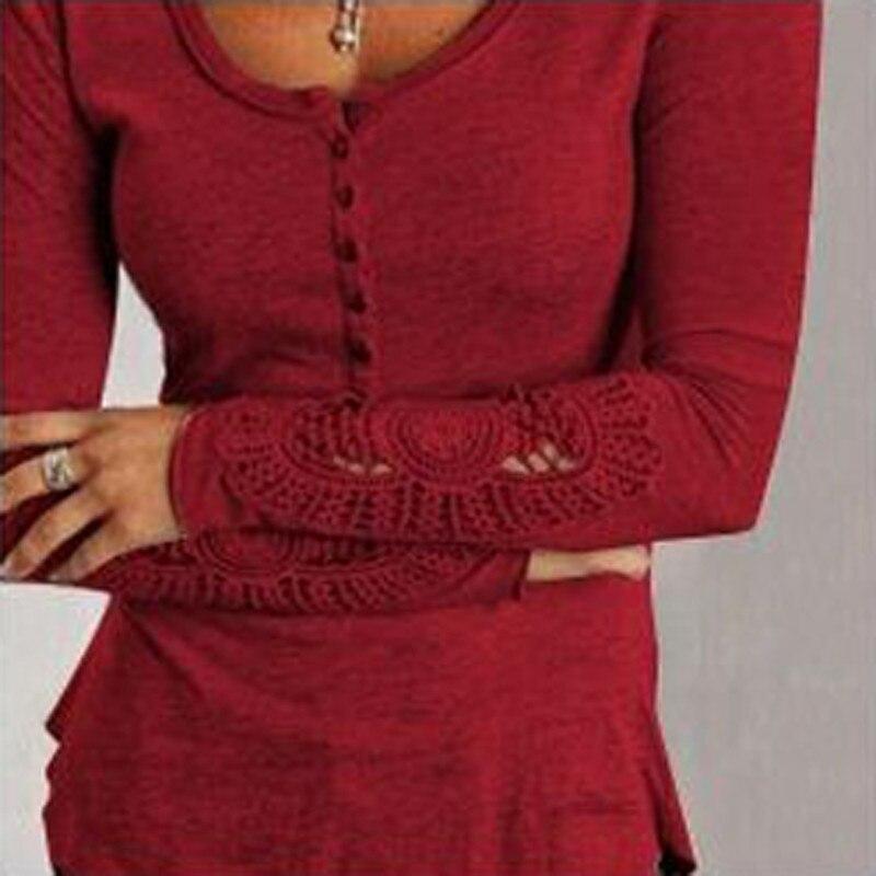 Hospitable 2019 Zanzea Women Shirt Blouse Elegant Ladies Hollow Sleeve Blusas Casual Lace Crochet Embroidery Tops Button Chemise Plus Size Jade White Women's Clothing