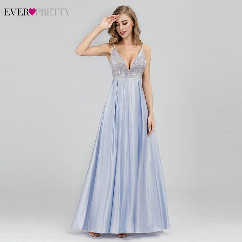 Sparkle Prom Dresses Ever Pretty Sequined Sexy Deep V Neck Backless Sleeveless Prom Dresses EP07899BL Vestidos Largos De Fiesta-in Prom Dresses from Weddings & Events    2