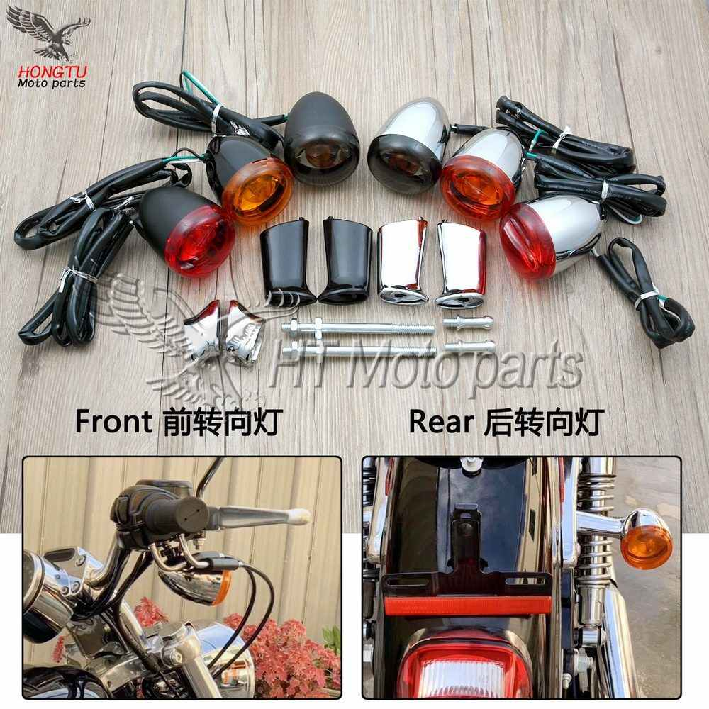 Motorcycle High quality Front Rear turn lights direction lamp For Harley Softail Dyna Sportster Fat Boy V-Rod XL883 XL 883 1200