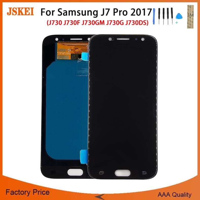 J730 LCD pour Samsung pour Galaxy J7 Pro 2017 J730 J730F J730GM J730G J730DS OLED LCD LCD Affichage à L'écran Tactile digitizer Assemblée