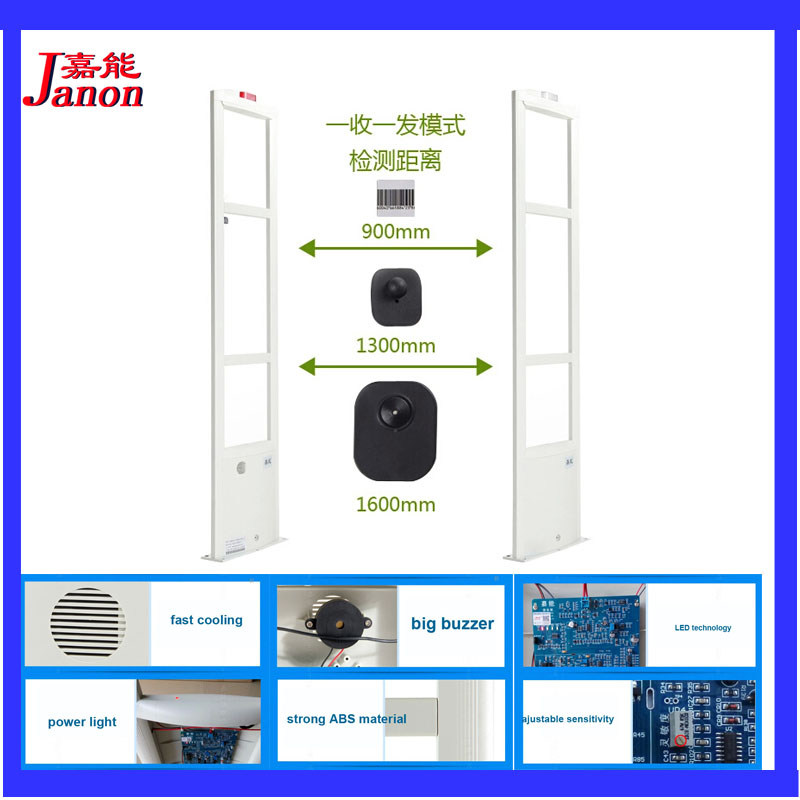 Clothing shop security alarm system 8 2Mhz eas system for