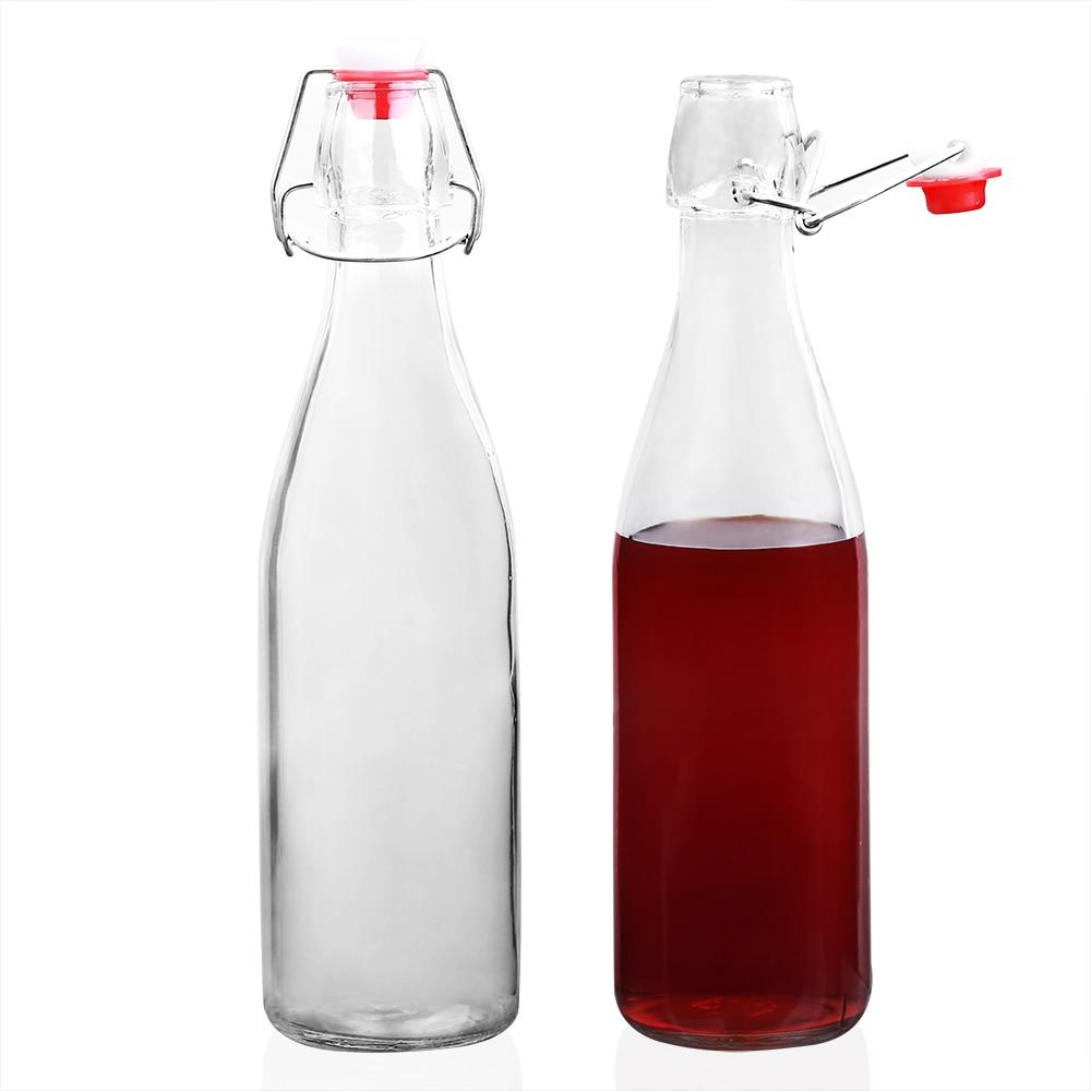 1Pcs 500ml Lead Free Glass Bottle Disposable Beverage ...
