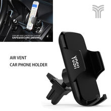 YOSH Universal Air Vent Car Phone Holder With Adjustable Clamp 360° Rotation Cradle Stand Holder For iPhone 7 8 X Samsung S8 S9