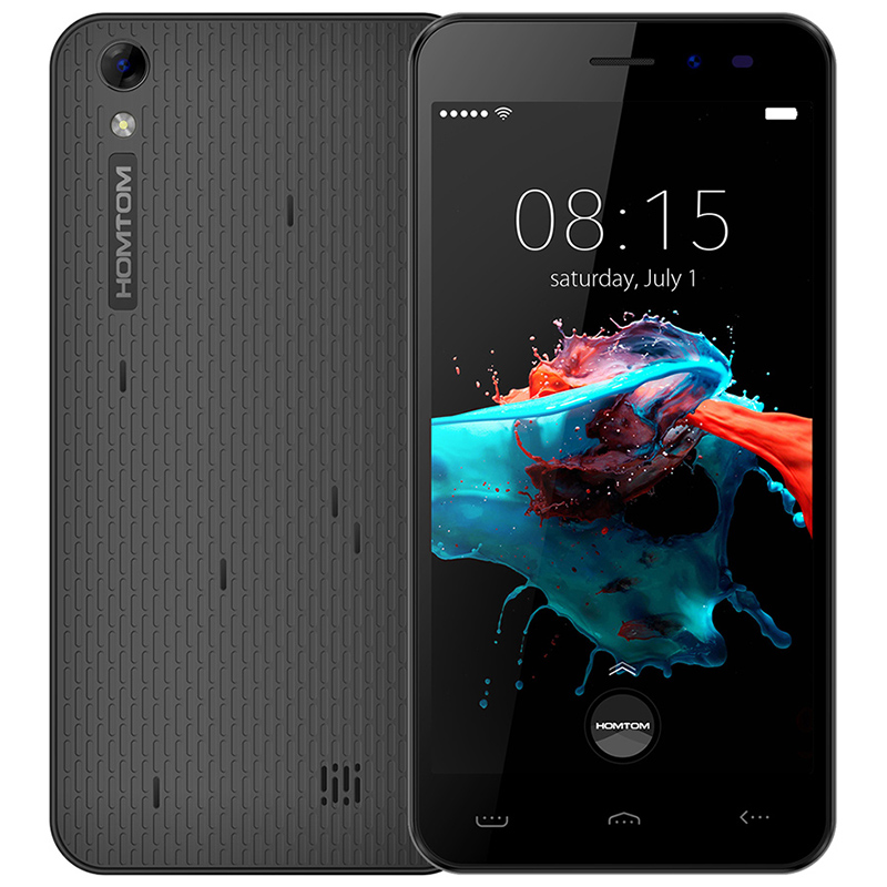 Original Homtom HT16 Android 6.0 5.0 inch 3G Smartphone MTK6580 1.3GHz 1GB RAM 8GB ROM Wakeup Gesture GPS A GPS Mobile Phone