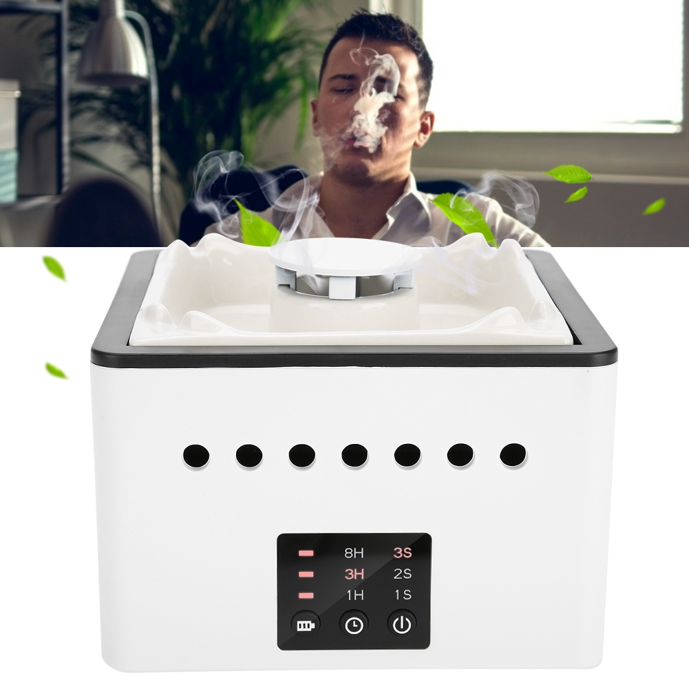 White Multi-functional Air Purifier Ashtray For PM2.5 Haze Secondhand Smoke Formaldehyde USB Charge Smell Clean