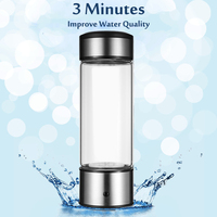 450ml USB Portable Rich Water Ionizer Generator Purifier Transparent Antioxidant Energy Cup Water Ionizer Hydrogens Generator