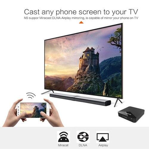 MAGICSEE N5 Smart TV Box Android 7.1.2 Amlogic S905X Mali 450 2GB 16GB Set Top Box 2.4G Wifi 4K H.265 Bluetooth 4.1 Media Player Karachi