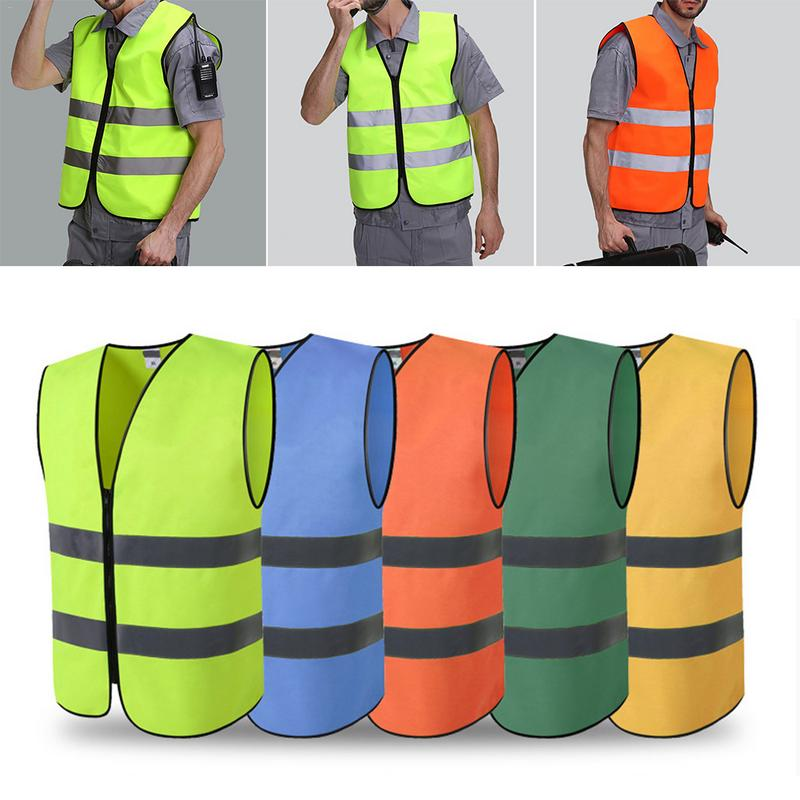 Reflective Vest High Visibility Day Night Running Cycle Warning Child Safety Vest Security Waistcoat Workwear Provides