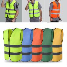 Reflective Vest High Visibility Day Night Running Cycle Warning Child Safety Vest Security Waistcoat Workwear Provides high visibility reflective safety vest reflective vest multi pockets workwear safety waistcoat traffic warning service safety
