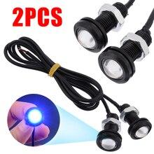 2pcs LED Boat Drain Plug Light Lamp 10W Blue 12V 1/2 NPT Universal For Marine Underwater Fish