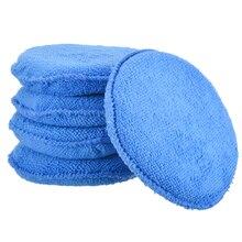 5pcs Car Waxing Polish Foam Sponge Wax Applicator Cleaning Detailing Microfibre Pads Clean Tools