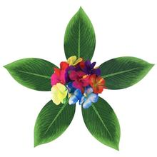 34 шт. искусственные декоративные тропические DIY Пальмовые Листья Декор Цветы для Luau джунгли Гавайские день рождения пляж барбекю Вечерние
