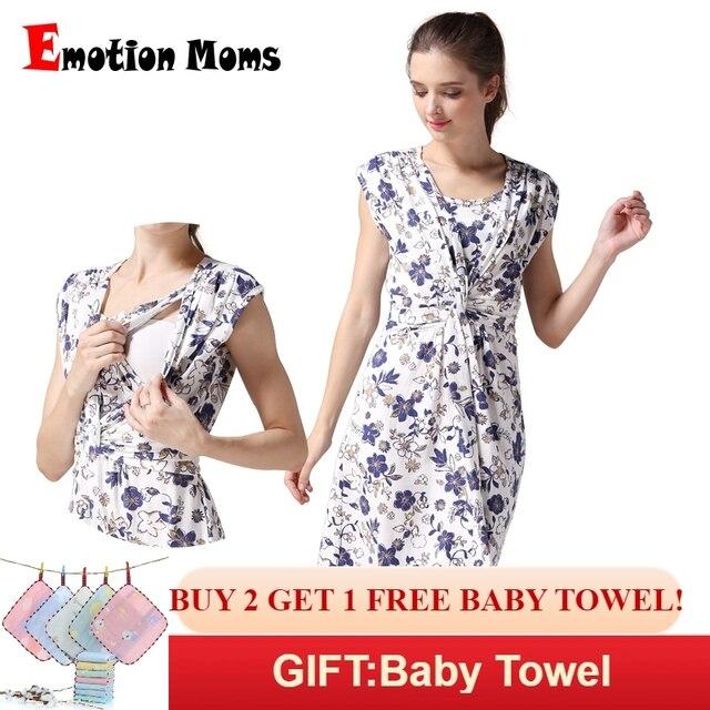 2eb69fa31 La emoción de las madres de ropa de maternidad de verano de ropa vestido de  enfermería