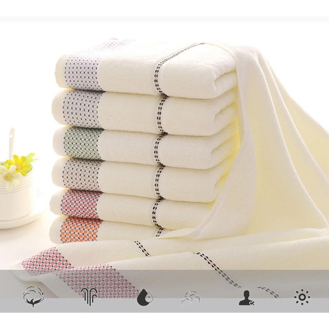 Drying Print Towel Towel Casual Soft Pattern Rectangle Absorbent Face Cotton Unisex Plaid Hair Bath