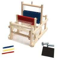 Wooden Traditional Weaving Loom Children Toy Craft Educational Gift Wooden Weaving Frame knitting Machinel