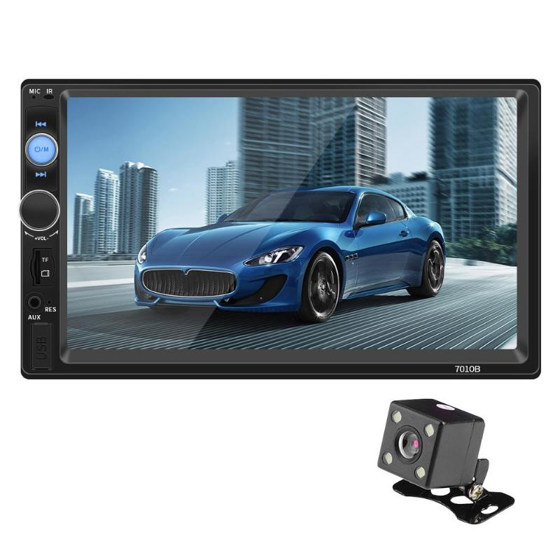 VODOOL 7010B 2Din 7 Touch Screen Bluetooth Car Stereo MP5 Player FM Radio AUX Audio Media Player Camera Support Reverse ImageVODOOL 7010B 2Din 7 Touch Screen Bluetooth Car Stereo MP5 Player FM Radio AUX Audio Media Player Camera Support Reverse Image