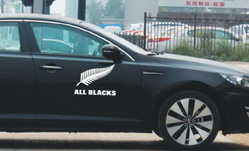Car styling new zealand all blacks club logo pattern stickersfunny car decor sticker